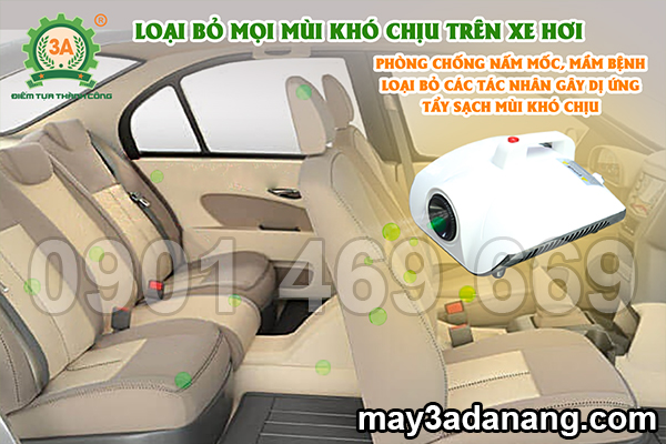 máy khử mùi, máy khử mùi xe ô tô, máy khử mùi diệt khuẩn ô tô, máy khử mùi ozone trong ô tô
