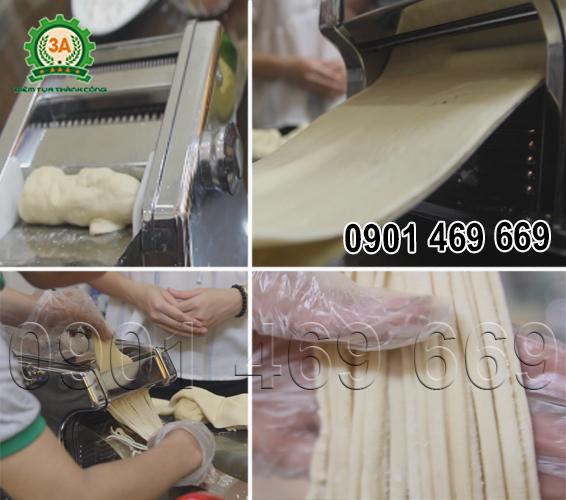 Máy làm mì sợi 3A, Máy cán, cắt mì sợi gia đình, máy làm mì gạo mini,